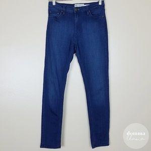 Free People • Hi Rise Skinny Blue Denim Jeans 27